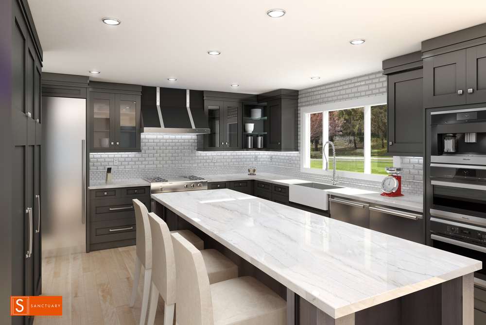 Boulder Kitchen on the Drawing Board — sanctuary kitchen and bath design