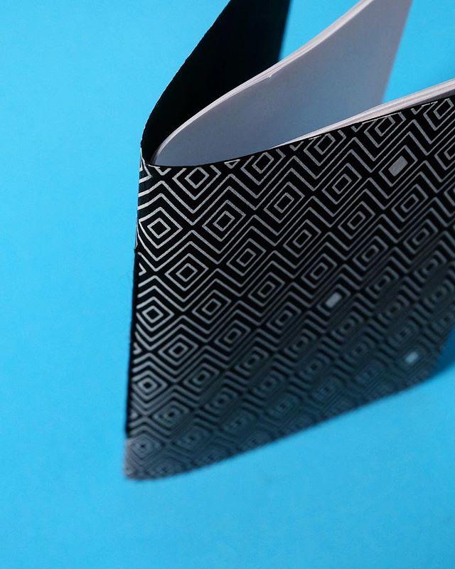 Flat Diamonds Black is high contrast line work zig zags across deep dark texture. #notebooks #studio #studiophotography  #brainstorm #sketching #pocketsized #pattern #frenchpaper #frenchpaperco