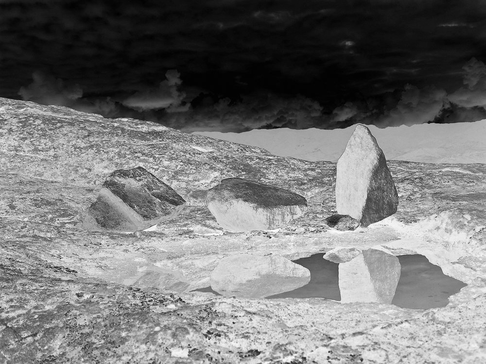 My stones in water (negative)