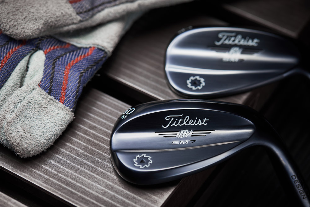 Titleist Slate Blue finished Vokey SM7 wedges.