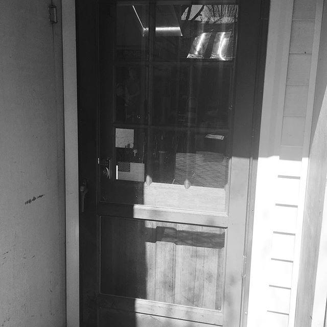 Fitting room door.