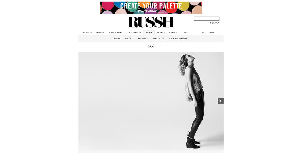 RUSSHMAGAZINE.com LXÉ | Collection One Motion:SIRAP -Directed by Paris Thomson Photography: Jennifer Stenglein