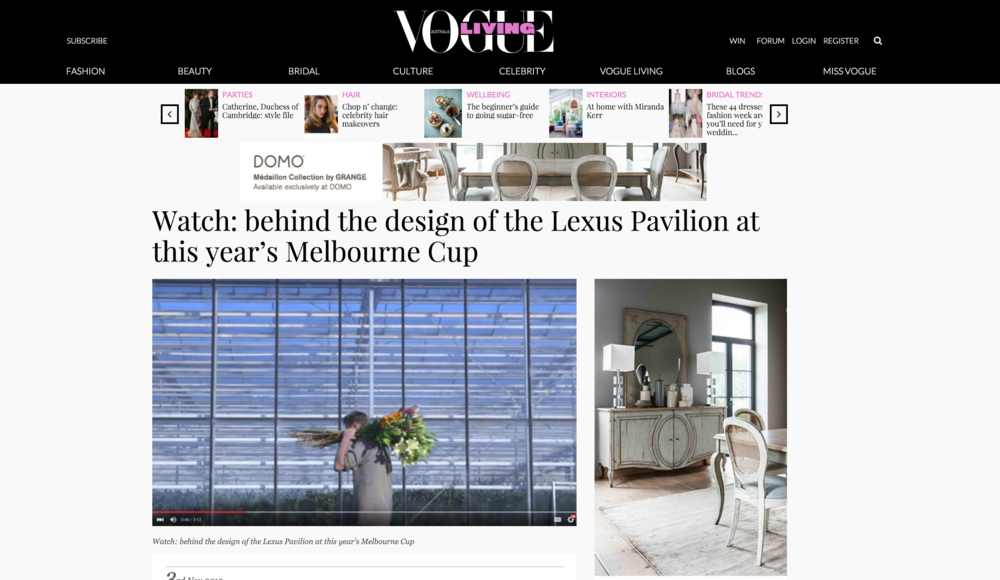 VOGUE LIVING Lexus | Brave Design Film Series Directed by Paris Thomson - SIRAP