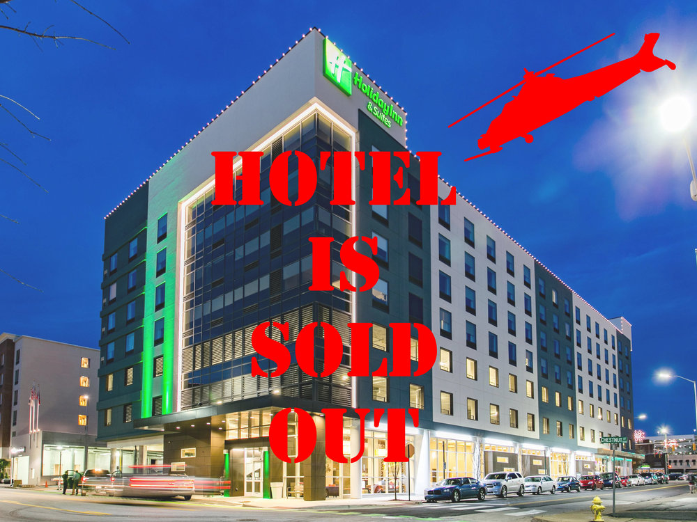Holiday Inn & Suites Downtown Chattanooga       434 Chestnut Street                        Chattanooga, TN, 37402                (423) 777-5858                                     - Price - $109 per night                          Parking - $15 per dayCheck In 3PM & Check Out 11AMReservations must be made by 8/10/1870 rooms in the group blockMain hotel being used & will also host a few after hours social events