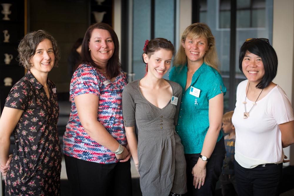 Australian Breastfeeding Association Counsellors, left to right: Lisa Vandenberg, Debbie Yates, Jess Leonard, Leanne Bromley, Lynn Ng.