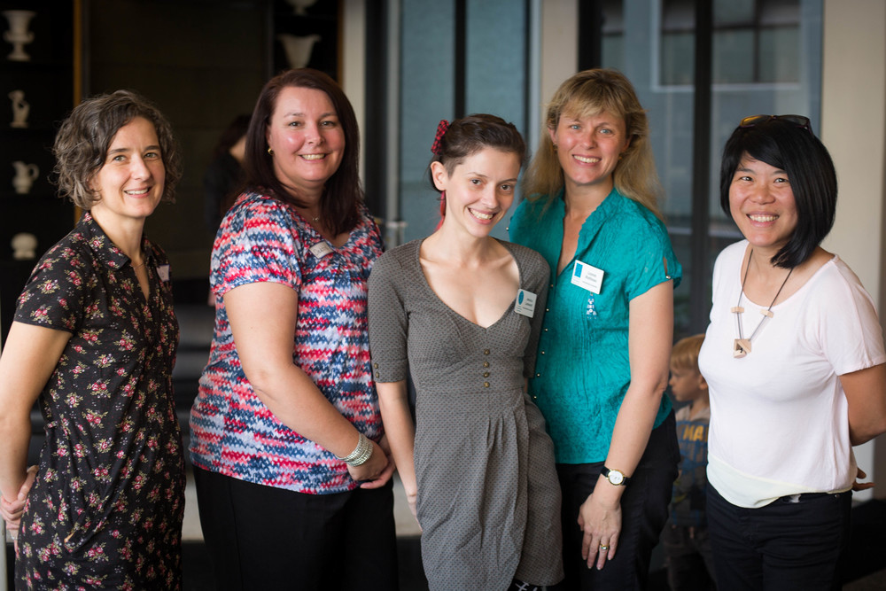 Australian Breastfeeding Association's Breastfeeding Support Trial counsellors - from left Lisa Vandenberg, Debbie Yates (Team leader), Jessica Leonard,  Leanne Bromley, Lynn Ng.
