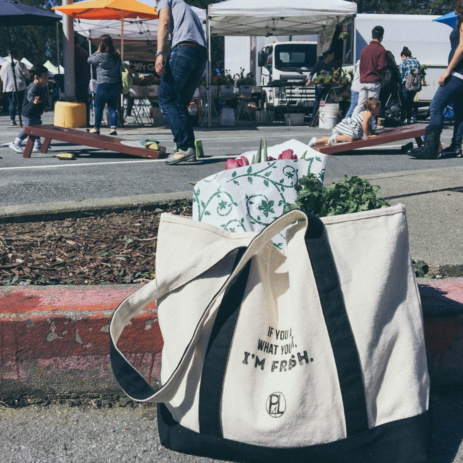 Check out P4L's official tote bag; it's great for groceries and shopping!