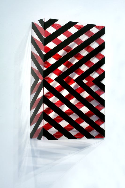 Stripe Structure 2_36x24x10_duct tape on plexiglas_2014.jpg