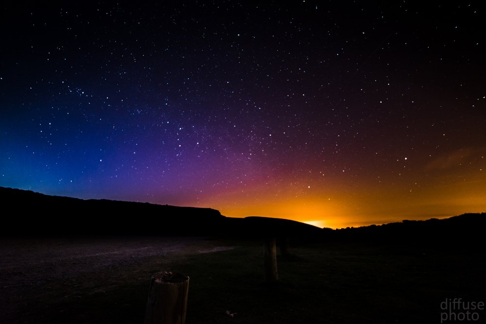 Light pollution from near by cities can make it very difficult to photograph the milky way.