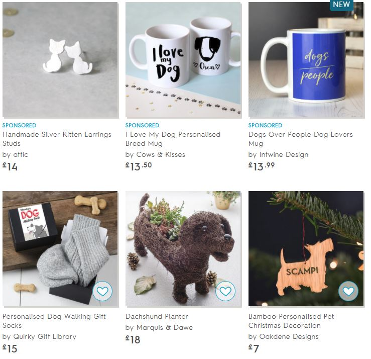 Not on the highstreet gifts for pet lovers