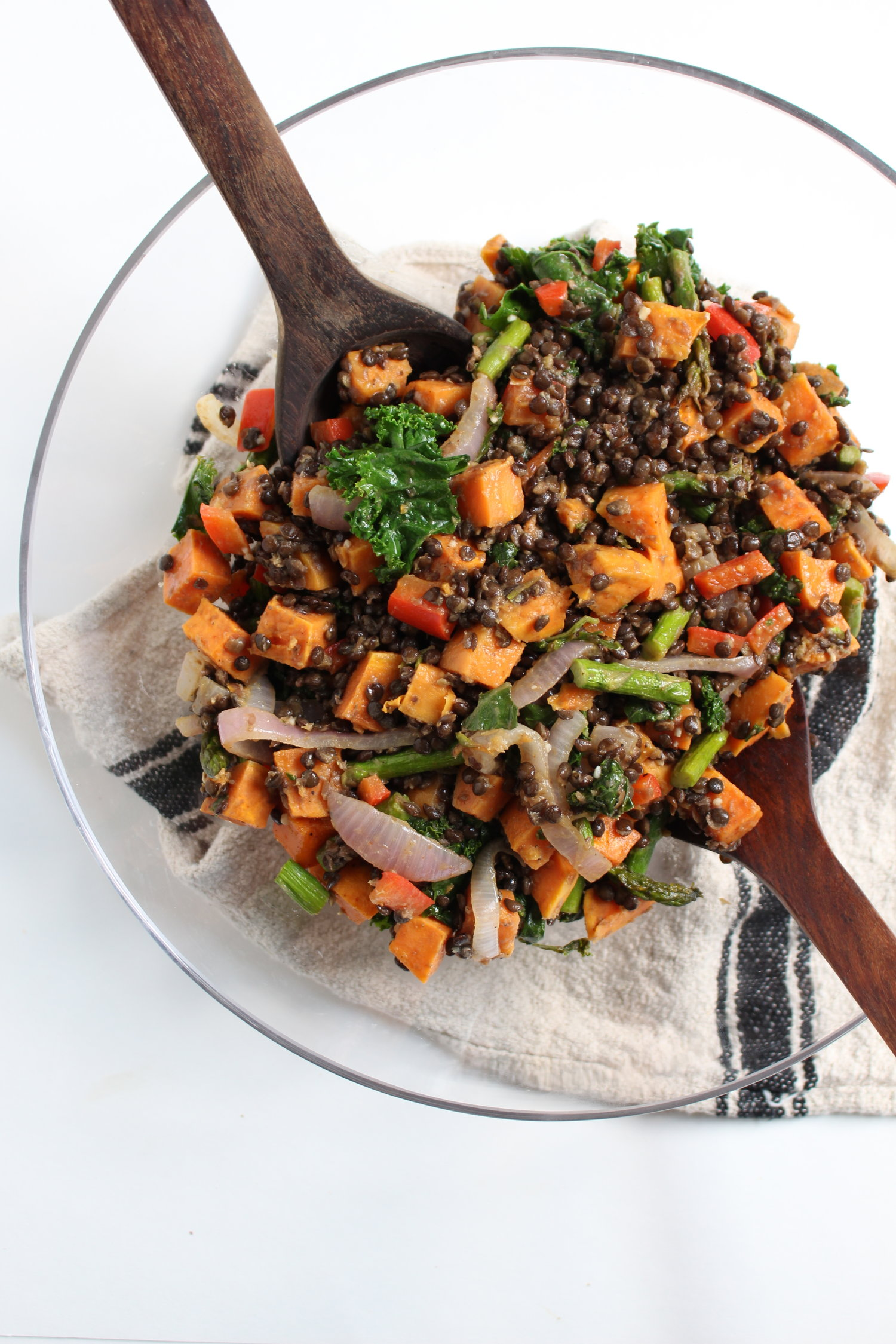 Roasted Sweet Potato Lentil Salad Whole Living Lauren