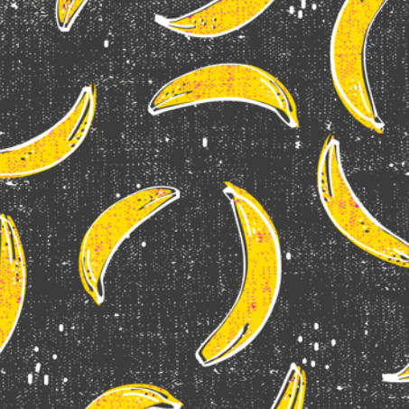bananarama_grey by holli_zollinger on Spoonflower