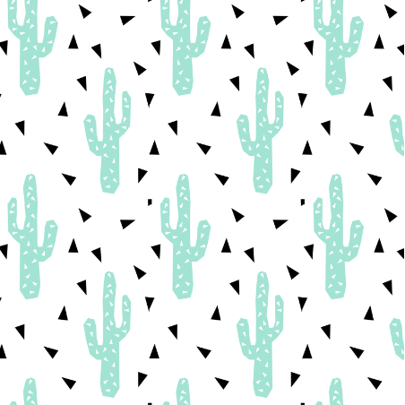 cactus mint tri triangle trendy design for minimal kids baby desert southwest by charlotte winter on spoon flower