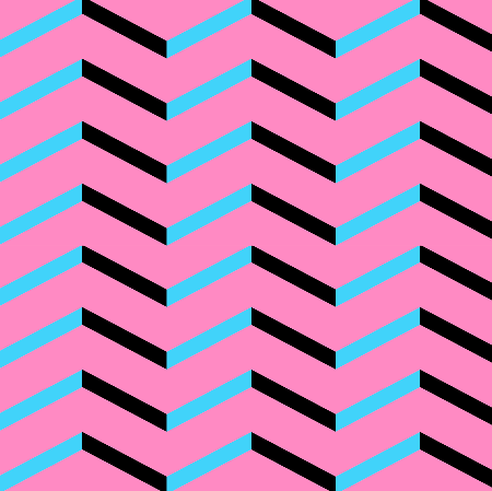 black blue chevron on pink by pencilmein on spoon flower