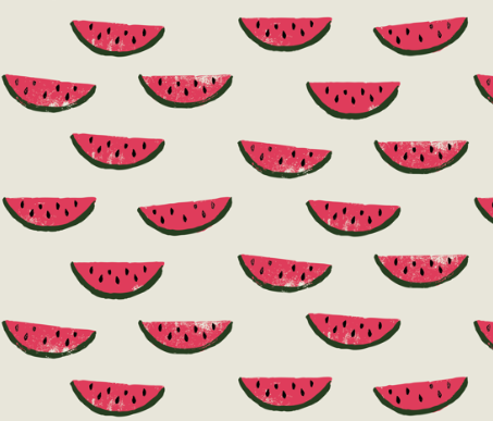 watermelon fabric on cream by bella_modiste on spoonflower