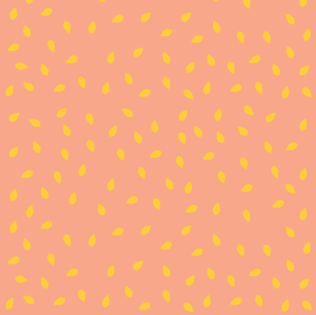 peach watermelon with yellow pits by pencilmein on spoonflower