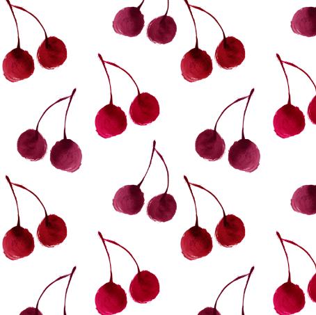 darling cherries - elvelyckan by elvelyckan on spoonflower