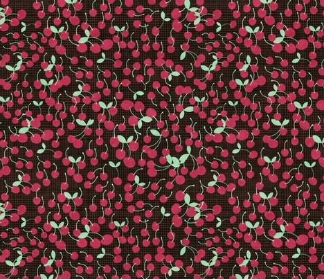 cherries by kociara on spoonflower