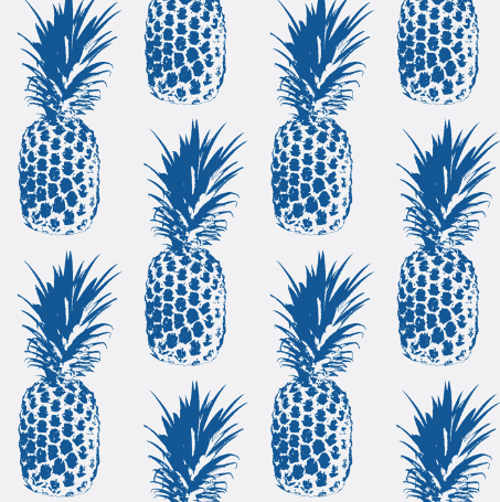 pineapple regal blue by lillytaylordesign on spoonflower