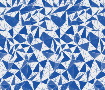 triangle facets - cobalt blue by ravynka on Spoonflower