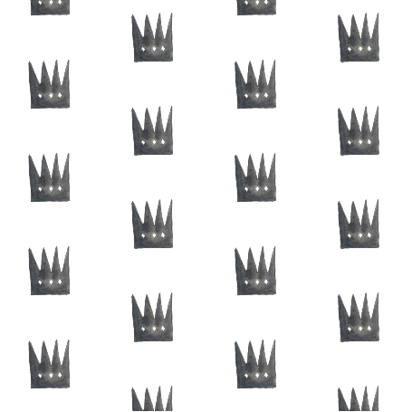 watercolor crowns on white by trizzuto on Spoonflower