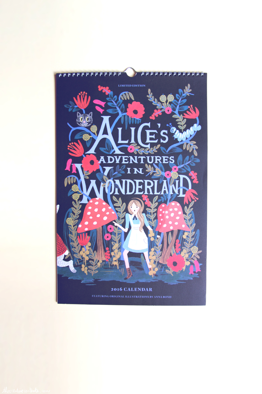 Calendrier Alice au pays des merveilles   Riffle Paper Co   chez The Paper Source