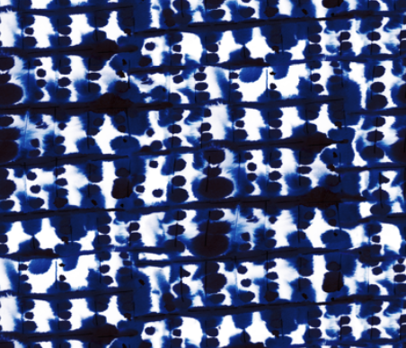 Parallel Blue Indigo  by: mjmstudio on spoonflower