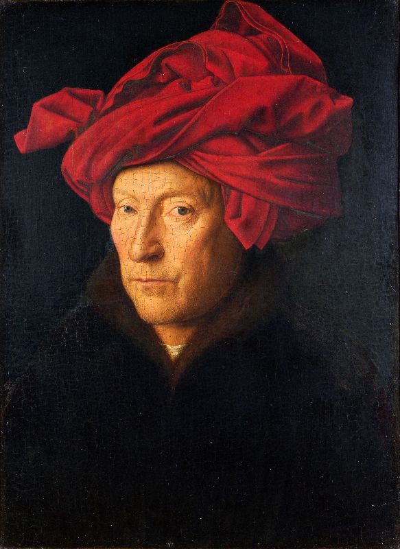 Jan Van Eyck, Man in a Red Turban, 1  4  33