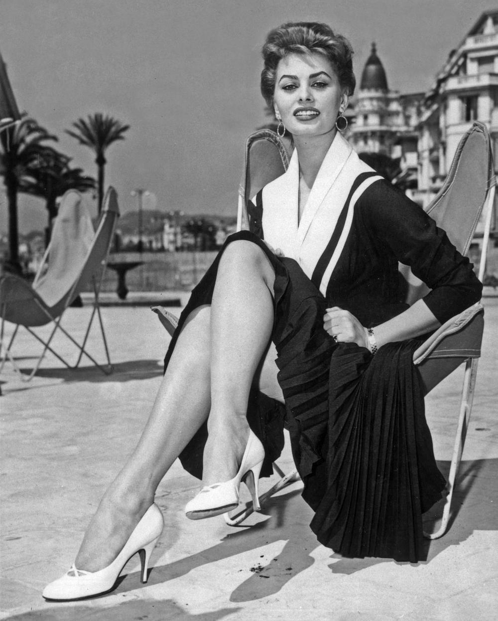 Sophie Loren at the 1954 Cannes Film Festival