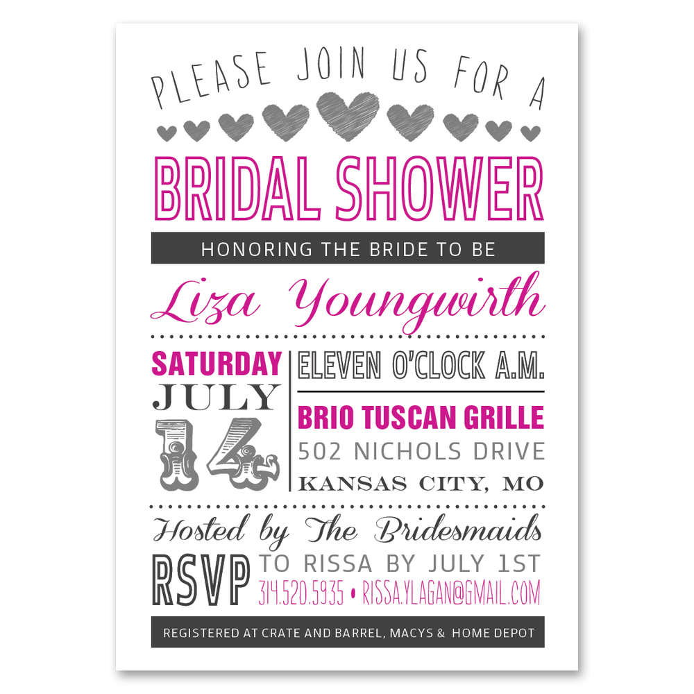 Bridal Shower Bachelorette Party – Bridal Shower and Bachelorette Party Invitations