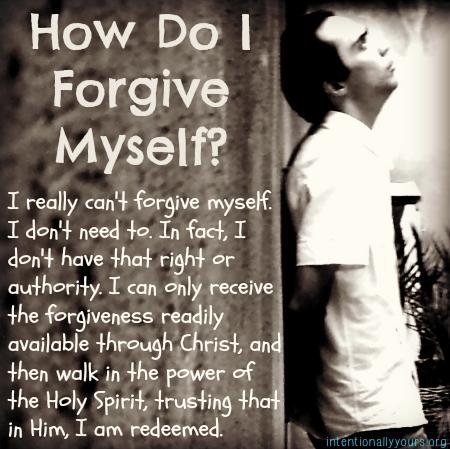 Can i forgive myself