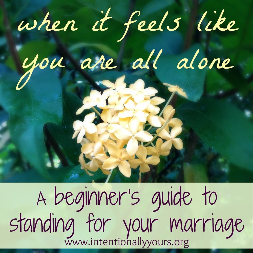 A beginner's guide to standing for your marriage