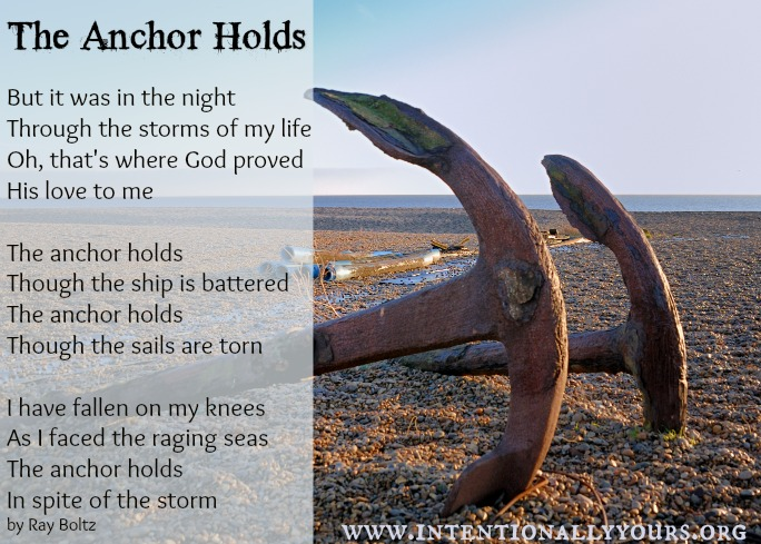 anchor holds