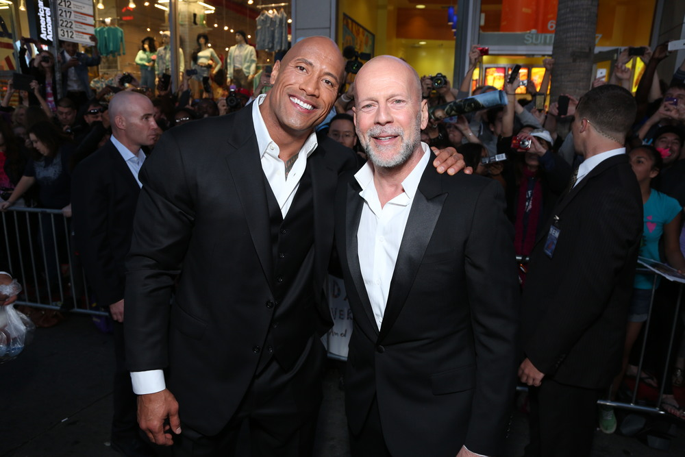 dwayne 'the rock' johnson, bruce willis