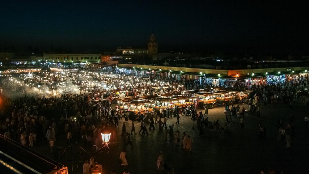 La Place Djemaa el fna, Marrakesh, Morocco