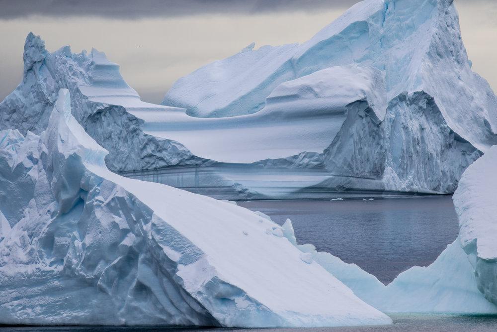 Icebergs, Penola Strait, Antarctica