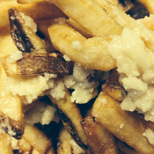 For all you haters out there that wrote a bad review which are very very very few..... Y'all just mad you can't do what we do...., oh and those are smashed garlic and pecorino romano fries. Served on Saturday and Sundays only.... And brunch every Saturday and Sunday 9am to 3pm