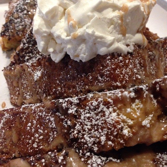 We are the shit!!!!!!!! Pumpkin bread french toast, cinnamon glaze, house made whipped cream!  Freakn epic!!!!! Still shaking my head.