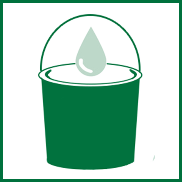 Responsibly Dispose of your Green Cell Foam by Dissolving large pieces in a Bucket