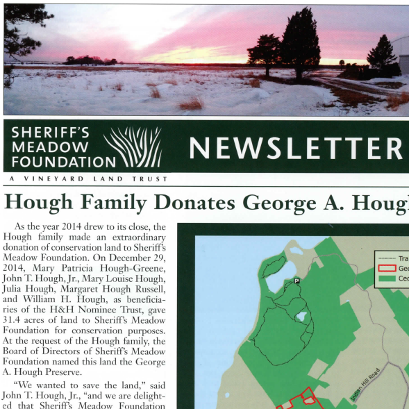 Sheriff's Meadow Foundation Newsletter - Spring 2015