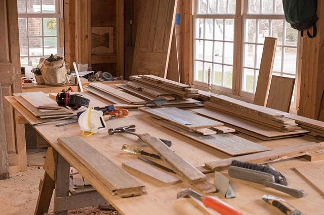 During the dismantlement of the Pendleton-Chapman House, we saved, documented, and mapped out where each of the doors came from. Now our carpenters are repairing and restoring the doors to their original beauty.  Photo: @stonehurstmedia