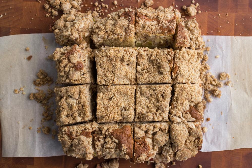 Rhubarb Crumb Snack Cake The Verdigris