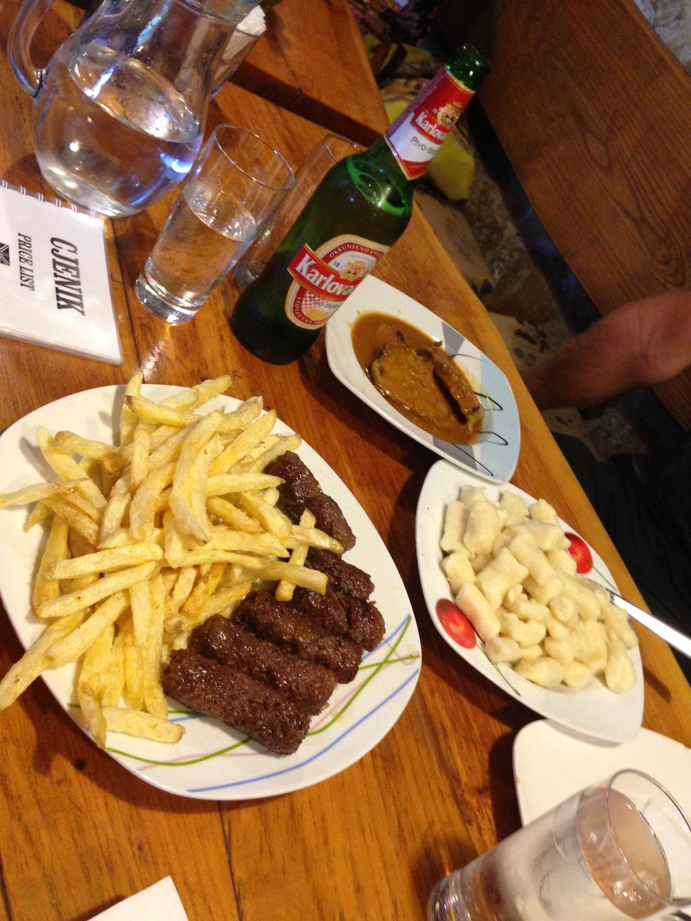 typical croatian meal