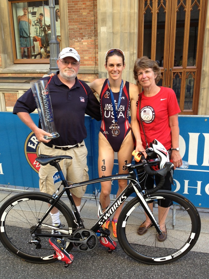 Gwen with parents Joel and Nancy Post Hamburg WTS 2013