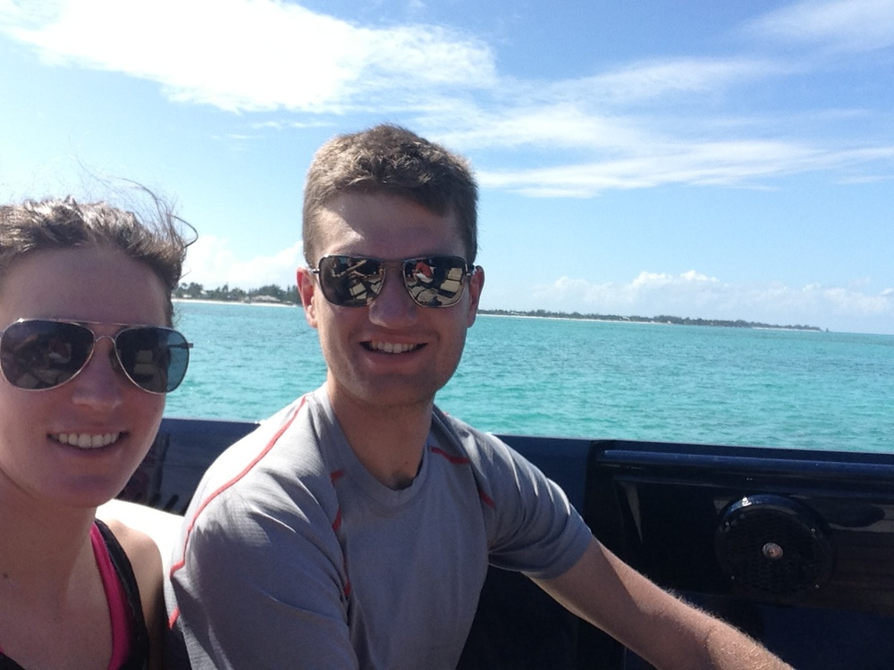 Gwen and Patrick in the Bahamas