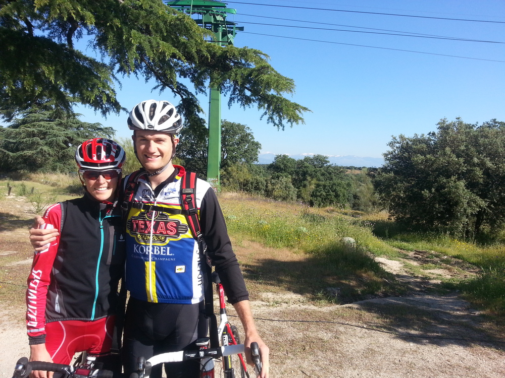 Gwen and Patrick pre riding the Madrid WTS course