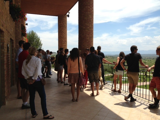 The Wollongong Wizards enjoying the view at the winery