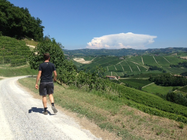 Walking to Elio Grasso. Beautiful!