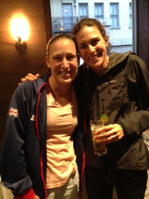 Jodie bought ME a drink....love how nice all of the triathletes are! Thanks, Jodie. Congrats on an amazing year
