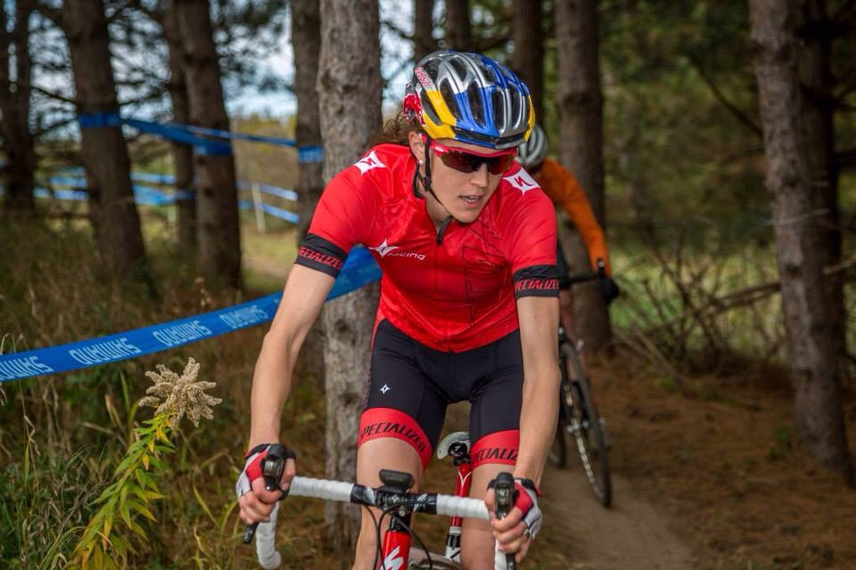 This is at Green Acres Cyclocross race. Photo from Green Acres Facebook Page.